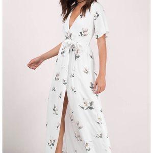TOBI | Emma White Maxi Floral Wrap Dress